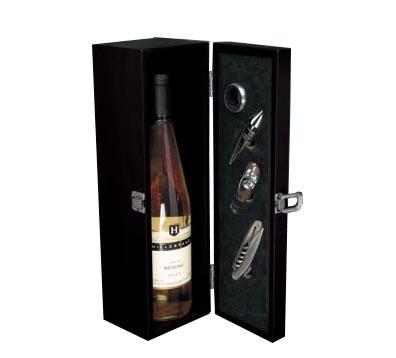 Boîte de bouteille de vin avec accessoires