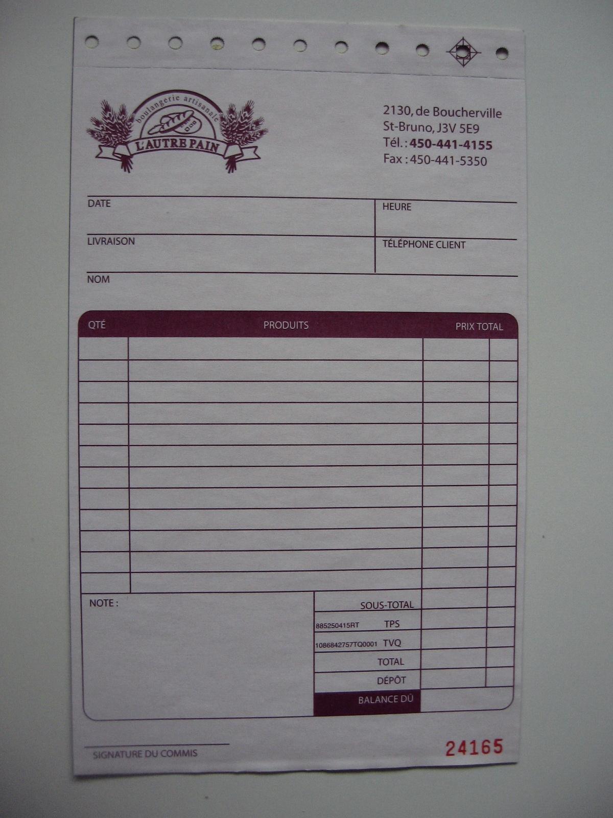 formulaires d'affaires